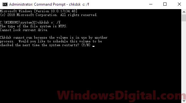 Run SFC to fix runtime error Windows 10