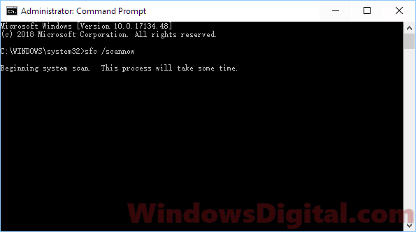 SFC to startup repair Windows 10 using command prompt cmd
