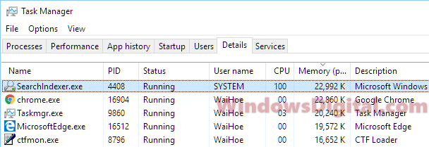 Search Indexer Windows 10 High CPU Disk Usage Disable