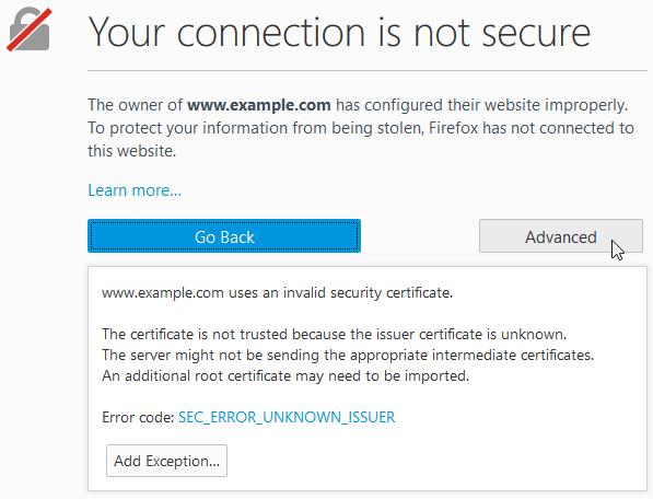 Security Certificate Error Windows 10 Google Chrome Firefox Edge IE Fix