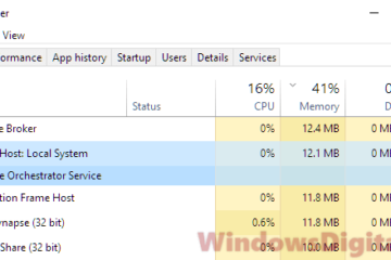Service Host Local System High CPU Disk Memory Usage Windows 10