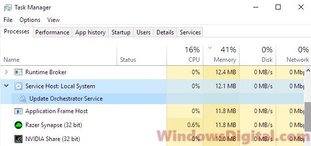 Service Host Local System High CPU Disk Memory Usage Windows 10