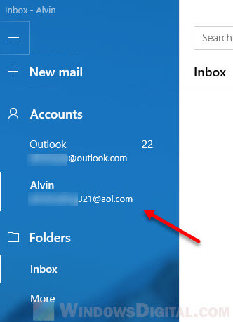 Set AOL as Default Email in Windows 10