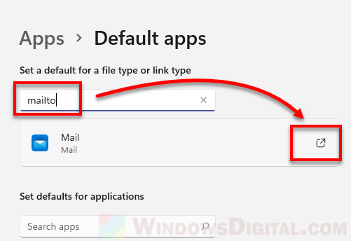 Set Gmail as default email in Windows 11