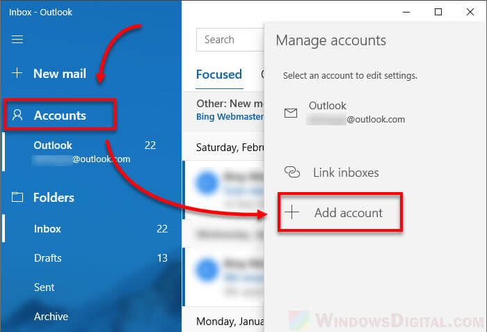 Set up AOL Mail as default email in Windows 10 Mail app
