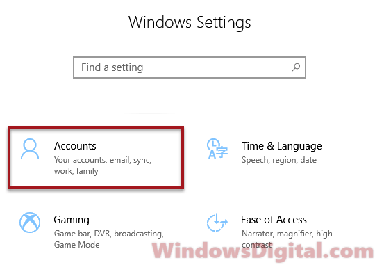 Settings accounts windows 10 reopen apps after restart