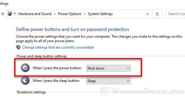 Shut down alternative method PC power button