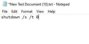 Shut down batch file Windows 10