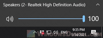 Speaker Volume Windows 10
