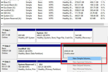 Split drive and create partition on unallocated space Windows 10