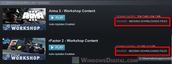 Steam Missing Downloaded Files