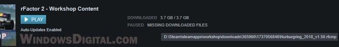 Steam Missing downloaded Files workshop content mod
