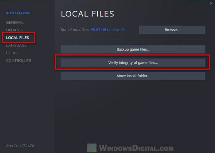 Steam Verifying integrity of game files for Missing downloaded files
