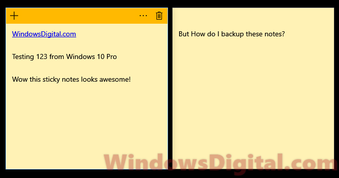 Sticky notes file location Windows 10 backup restore