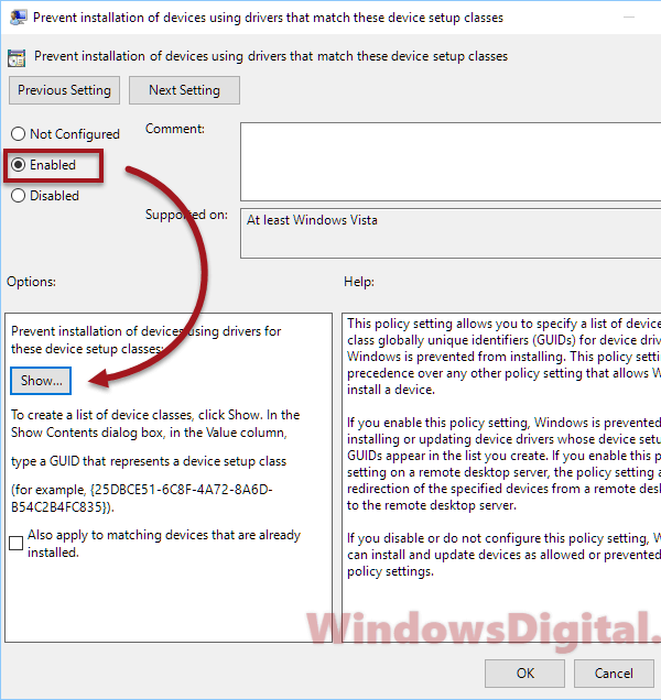 Stop driver updatesWindows 10 by preventing installation of devices