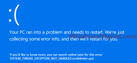 System Thread Exception Not Handled Windows 10 BSOD Fix