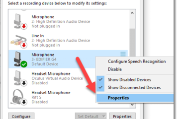 Test headset mic Windows 10 Microphone Properties