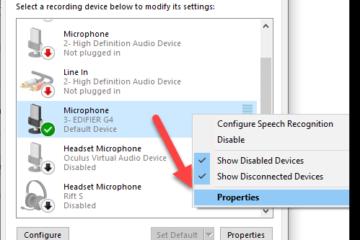 Test headset mic Windows 10 Microphone Properties