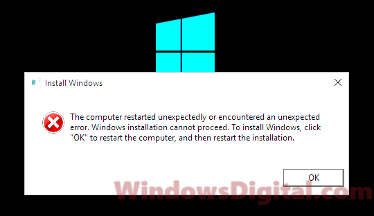 The computer restarted unexpectedly loop Windows 10 64 bit