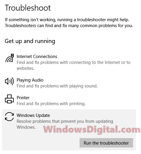 Troubleshoot Potential Windows Update database error detected 2018