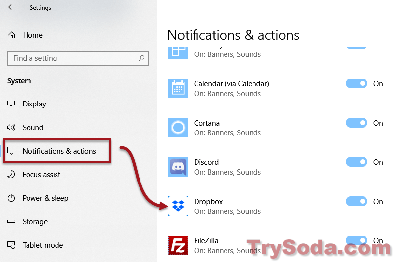 Turn Off Notification Sound Windows 10