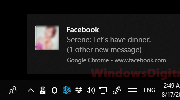 Turn off facebook notifications chrome windows 10