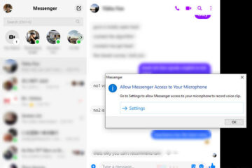 Turn on Microphone Facebook Messenger Windows 10