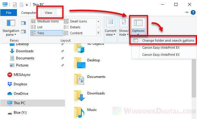 Unhide file name extensions Windows 10