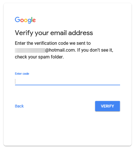 Verify your email address Google account sign up Youtube