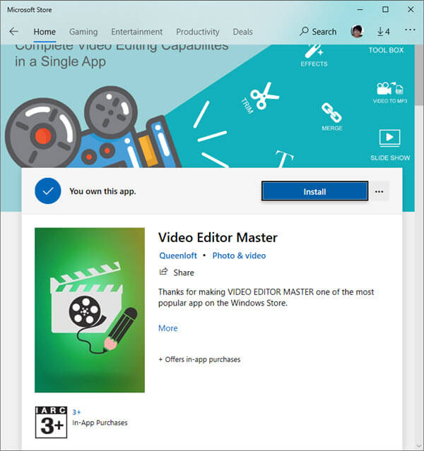 Video editor master Microsoft Store