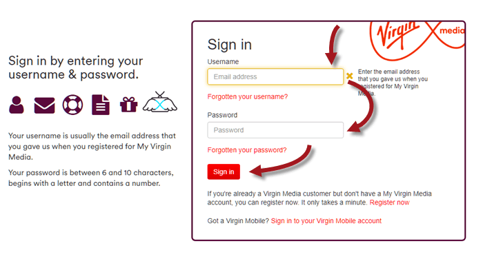 Virgin Media Email Login