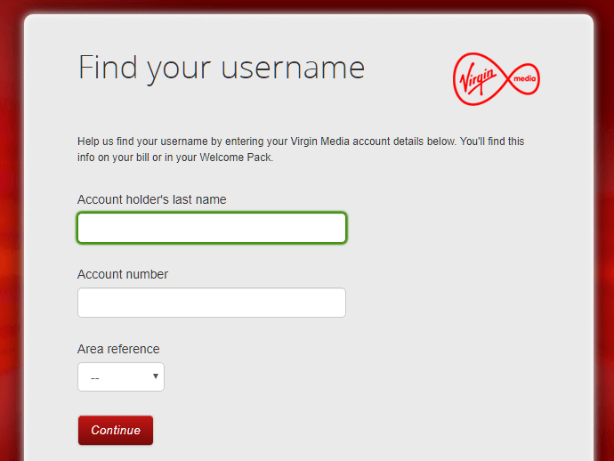 Virgin Media Email change password