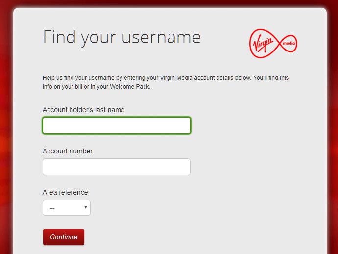 Virgin Media Email change password
