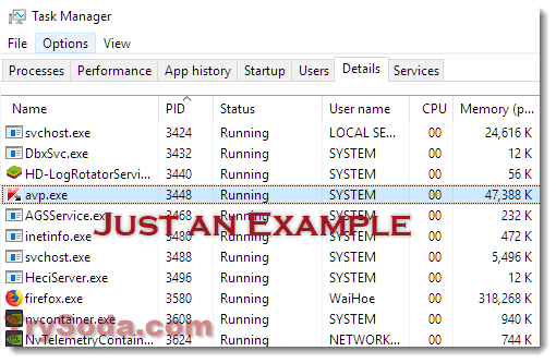 WMI Provider Host win10 task manager
