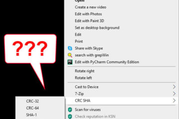 What is CRC SHA on right click menu in Windows 10