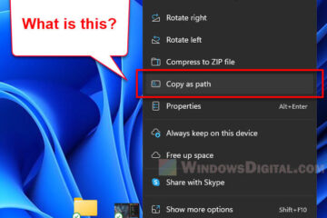 What is Copy as Path in Windows 11