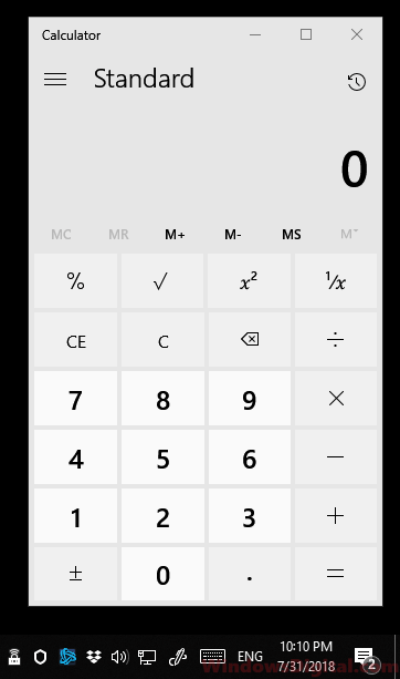 Windows 10 Calculator App Not Working