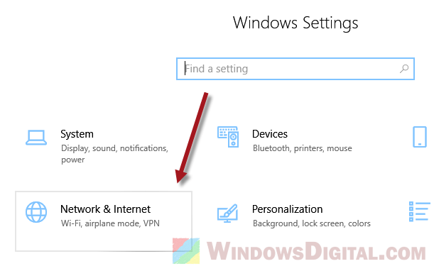 Windows 10 Network and Internet Settings