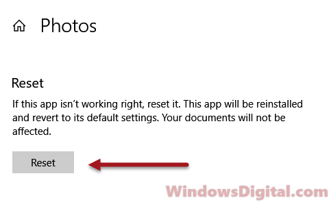 Windows 10 Photos App not working Fix