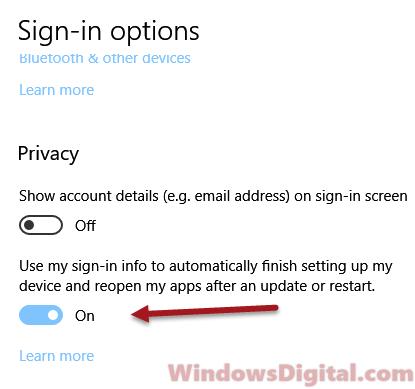 Windows 10 Reopen Applications Windows After Restart