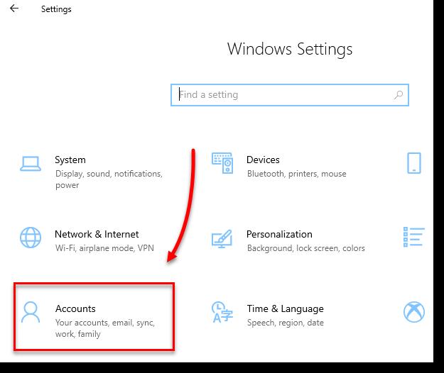 Windows 10 Settings Accounts Remove PIN