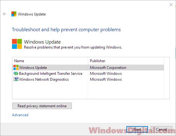 Windows 10 Update Troubleshooter