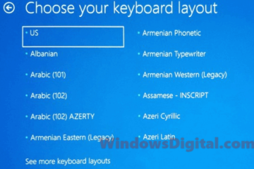 Windows 10 Update stuck choose your keyboard layout