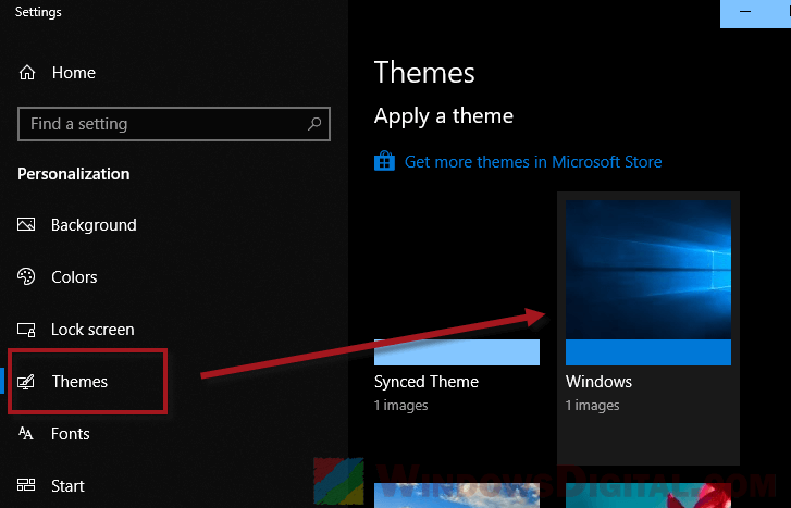 Windows 10 dark mode theme not working