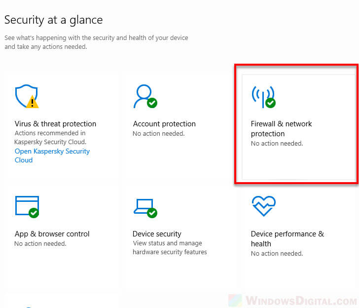 Windows 10 disable firewall notifications network protection