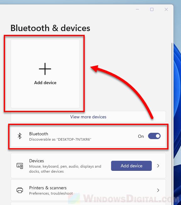 Windows 11 Connect Bluetooth headphones headset speaker