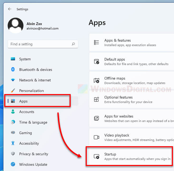 Windows 11 Disable Startup Apps Settings