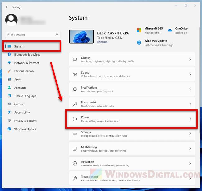 Windows 11 Power Settings for Screen and Sleep