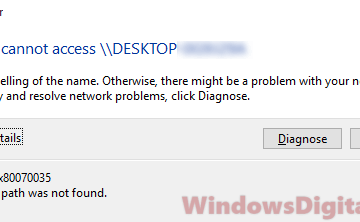 Windows Cannot Access Network Shared Folder Drive Computer Windows 10