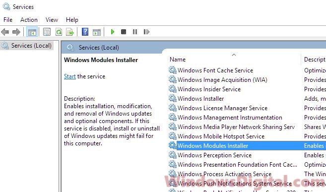 Windows Modules Installer Worker High CPU Usage
